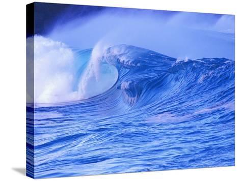 Breaking Wave-David Pu'u-Stretched Canvas Print