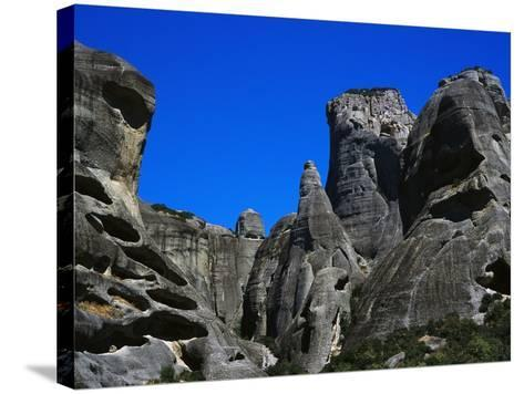Rock Towers of Meteora-Perry Mastrovito-Stretched Canvas Print