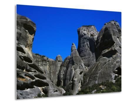Rock Towers of Meteora-Perry Mastrovito-Metal Print