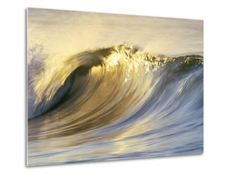 Ocean Wave Breaking-David Pu'u-Metal Print