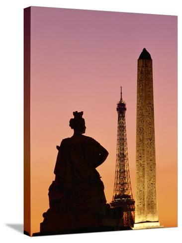 Obelisk of Luxor and Eiffel Tower-Marco Cristofori-Stretched Canvas Print