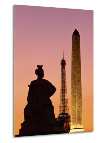 Obelisk of Luxor and Eiffel Tower-Marco Cristofori-Metal Print