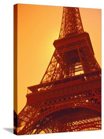 Eiffel Tower Against Sky-Lance Nelson-Stretched Canvas Print