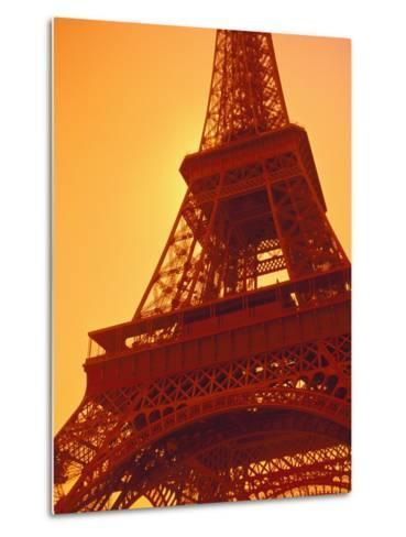 Eiffel Tower Against Sky-Lance Nelson-Metal Print