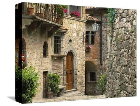 Tuscan Stone Houses-William Manning-Stretched Canvas Print