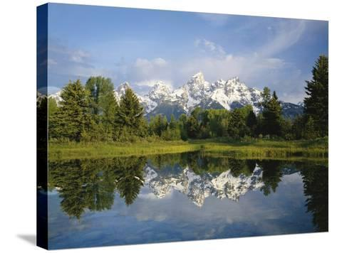 Beaver Pond with Teton Range in Distance-Craig Tuttle-Stretched Canvas Print
