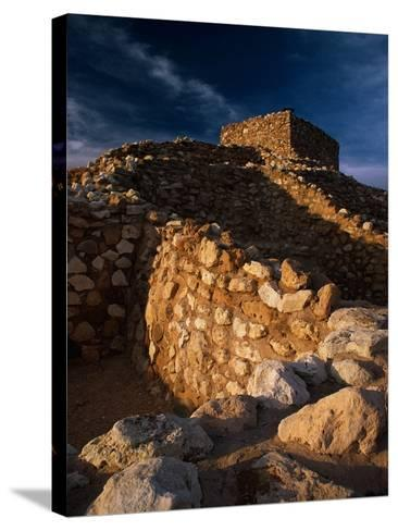 Pueblo Ruins at Tuzigoot National Monument-Richard Cummins-Stretched Canvas Print