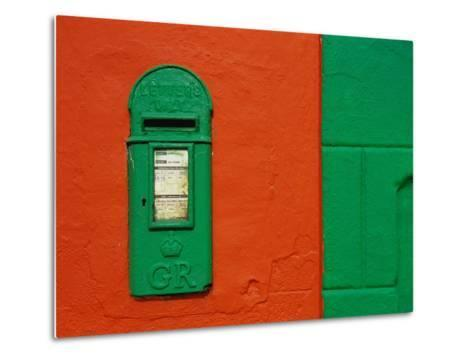 Bright Green Mail Slot-Richard Cummins-Metal Print
