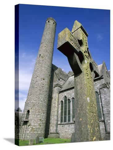 St. Canice's Cathedral and Round Tower-Richard Cummins-Stretched Canvas Print