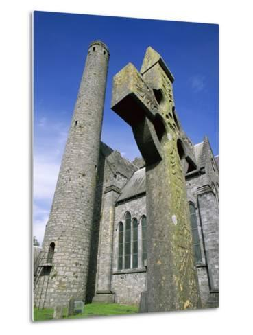 St. Canice's Cathedral and Round Tower-Richard Cummins-Metal Print