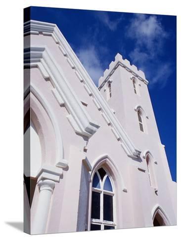 Salvation Church in St. George in Bermuda-Richard Cummins-Stretched Canvas Print