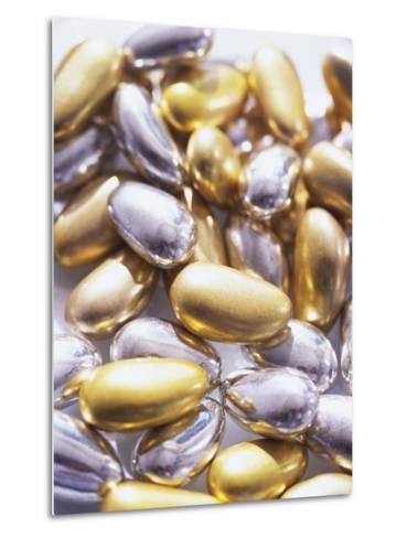 Gold and Silver Sugared Almonds-Michelle Garrett-Metal Print