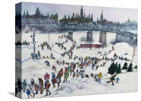 Winterlude, Pirovik - Ottawa-Hull, Canada-Franklin McMahon-Stretched Canvas Print