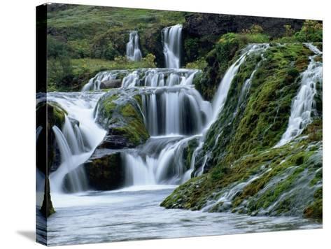 Waterfalls at Gjainfossar-Hubert Stadler-Stretched Canvas Print