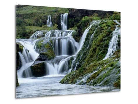 Waterfalls at Gjainfossar-Hubert Stadler-Metal Print