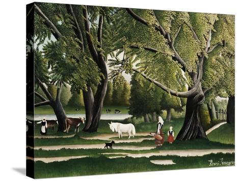 Summer-Henri Rousseau-Stretched Canvas Print