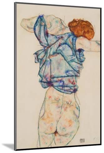 Woman Undressing-Egon Schiele-Mounted Giclee Print