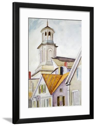 Church Steeple and Rooftops-Edward Hopper-Framed Art Print
