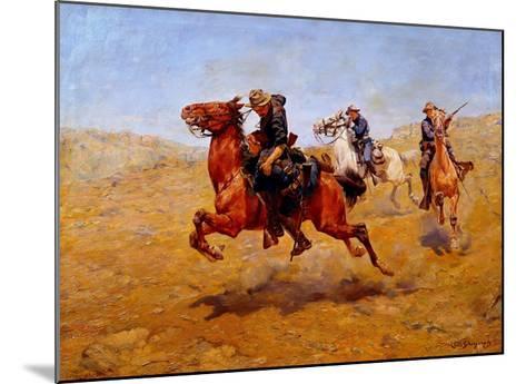 My Bunkie-Charles Schreyvogel-Mounted Giclee Print