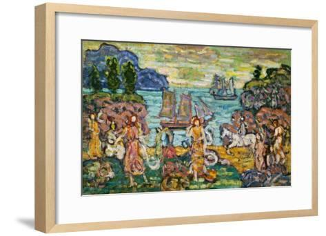 Painting of a Seaside Scene by Maurice Prendergast-Geoffrey Clements-Framed Art Print
