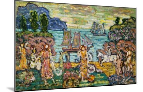 Painting of a Seaside Scene by Maurice Prendergast-Geoffrey Clements-Mounted Giclee Print