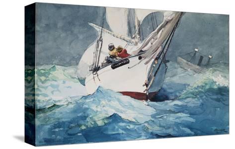 Reefing Sails Around Diamond Shoals, Cape Hatteras-Winslow Homer-Stretched Canvas Print