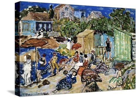 Painting of a Beach Scene by Maurice Brazil Prendergast-Geoffrey Clements-Stretched Canvas Print