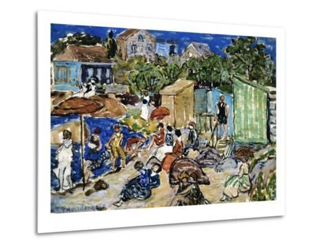 Painting of a Beach Scene by Maurice Brazil Prendergast-Geoffrey Clements-Metal Print