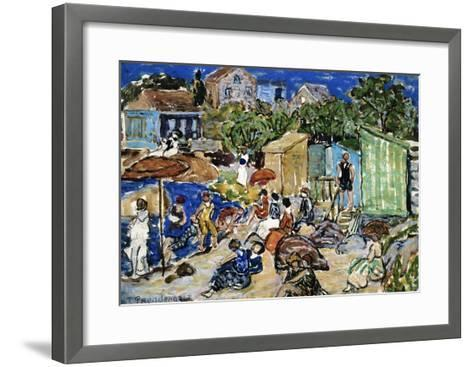 Painting of a Beach Scene by Maurice Brazil Prendergast-Geoffrey Clements-Framed Art Print