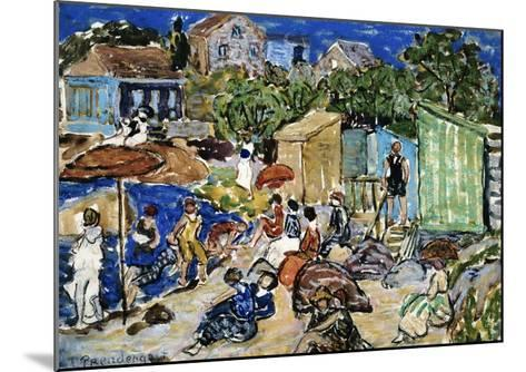 Painting of a Beach Scene by Maurice Brazil Prendergast-Geoffrey Clements-Mounted Giclee Print