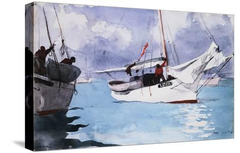 Fishing Boats, Key West-Winslow Homer-Stretched Canvas Print