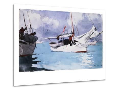 Fishing Boats, Key West-Winslow Homer-Metal Print