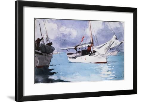 Fishing Boats, Key West-Winslow Homer-Framed Art Print