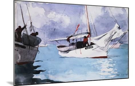 Fishing Boats, Key West-Winslow Homer-Mounted Giclee Print