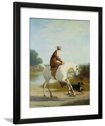 Miss Cazenove on a Gray Hunter-Jacques Laurent Agasse-Framed Art Print