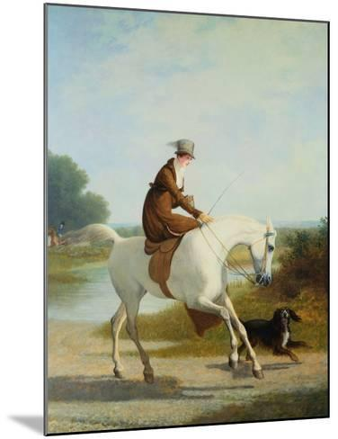 Miss Cazenove on a Gray Hunter-Jacques Laurent Agasse-Mounted Giclee Print