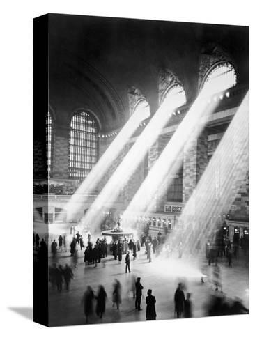 Sunbeams in Grand Central Station--Stretched Canvas Print