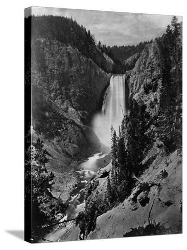 Lower Falls in the Grand Canyon of the Yellowstone--Stretched Canvas Print