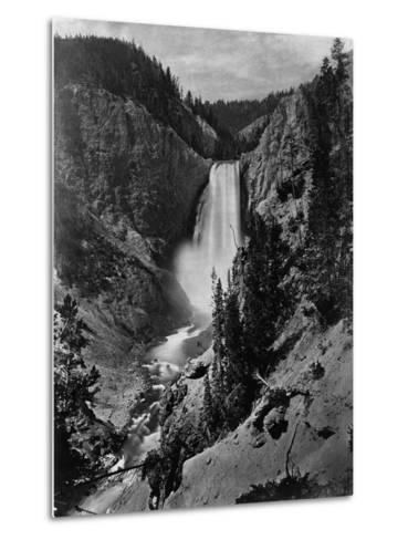 Lower Falls in the Grand Canyon of the Yellowstone--Metal Print