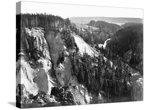 River Near Yellowstone National Park, 1871--Stretched Canvas Print