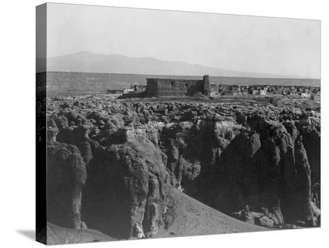 Acoma from the South-Edward S^ Curtis-Stretched Canvas Print