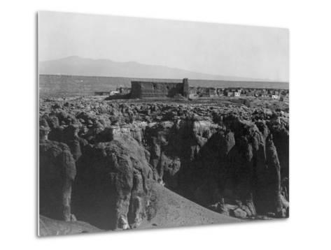Acoma from the South-Edward S^ Curtis-Metal Print