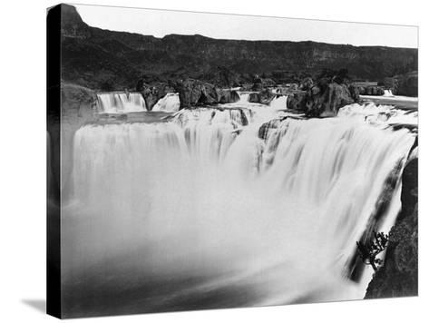Snake River Thunders Over Shoshone Falls--Stretched Canvas Print