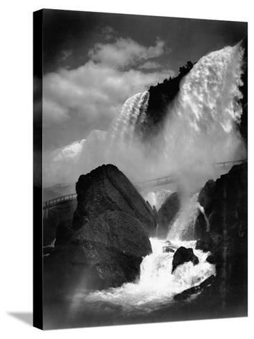Niagara Falls from the Cave of the Winds--Stretched Canvas Print
