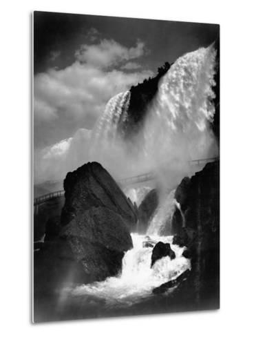 Niagara Falls from the Cave of the Winds--Metal Print