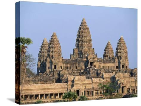 Central Towers of Angkor Wat, Cambodia-Kevin R^ Morris-Stretched Canvas Print