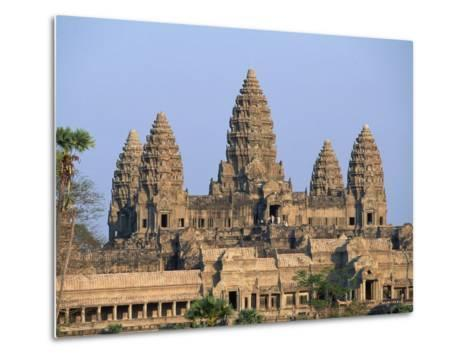 Central Towers of Angkor Wat, Cambodia-Kevin R^ Morris-Metal Print