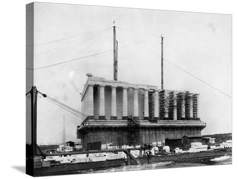 Construction of the Lincoln Memorial--Stretched Canvas Print