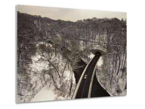Highway Crossing a Creek-Richard Nowitz-Metal Print