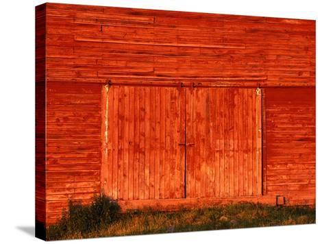 Detail of a Red Barn-Stuart Westmorland-Stretched Canvas Print